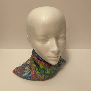 Vintage Abstract Small Neck Scarf/Head Wrap